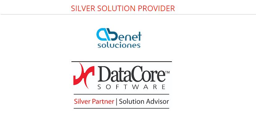 Certificado Silver Partner DataCore Software de Virtualización de Almacenamiento