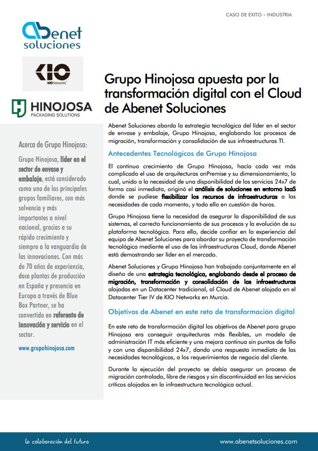 Caso de Éxito Transformación Digital al Cloud Grupo Hinojosa